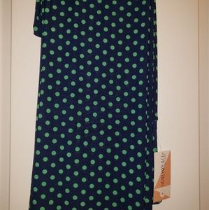 Honey and Lace Pants - Navy Blue with green polka dots Palazzo Pants